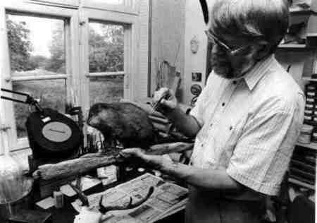 Johannes Erritzoe i værkstedet